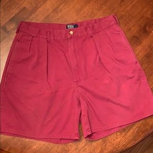 Burnt Red Polo Shorts Size 34